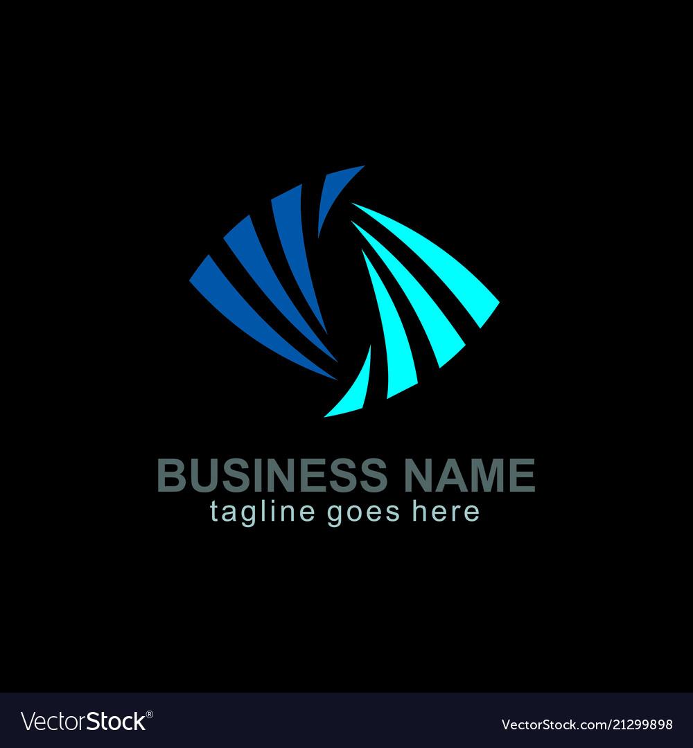 Circle colored loop business logo