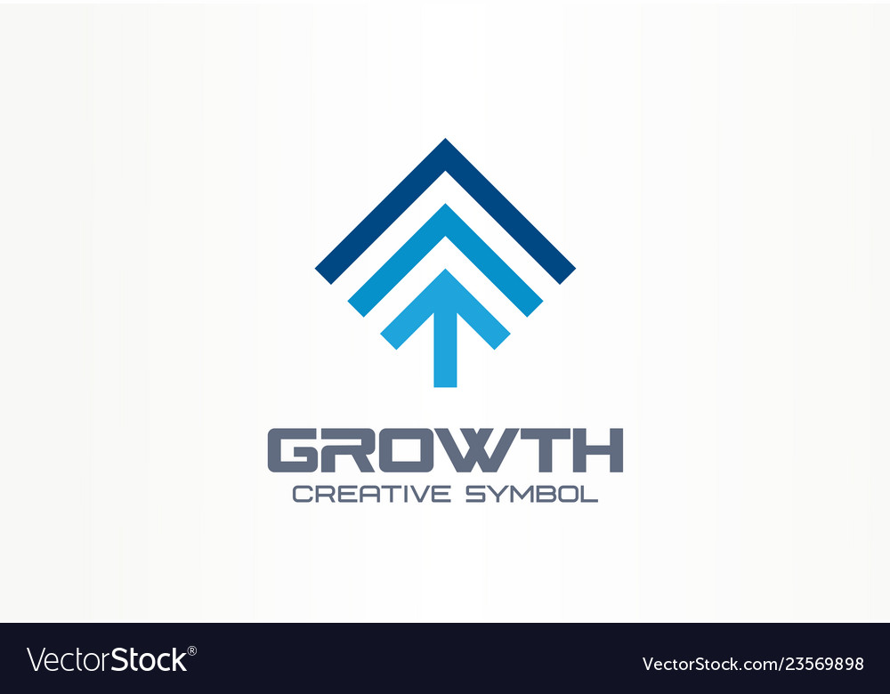 Growth creative symbol concept profit increase