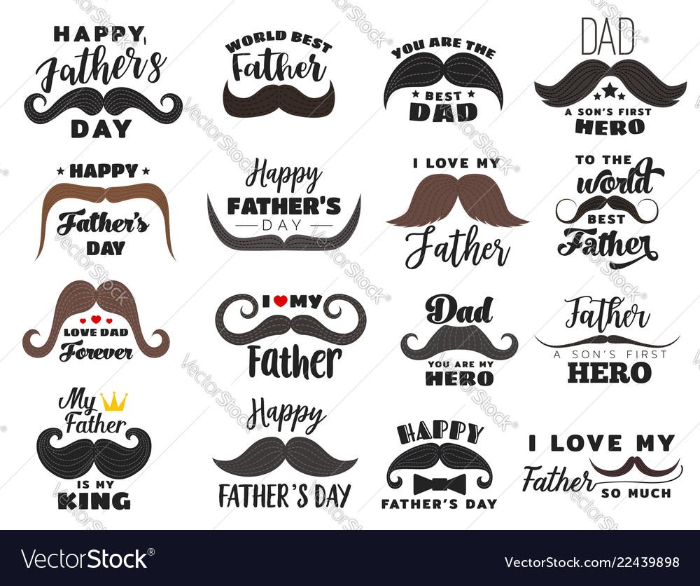 Holiday icons fathers day celebration