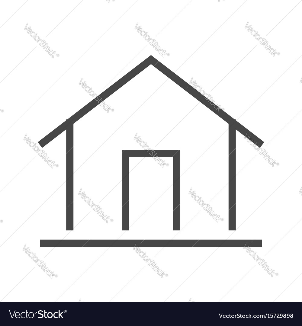 Home thin line icon