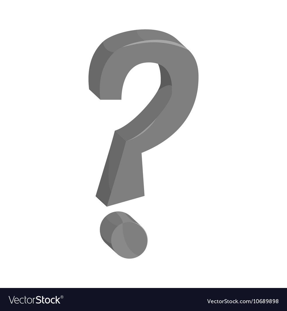Question mark sign icon black monochrome style