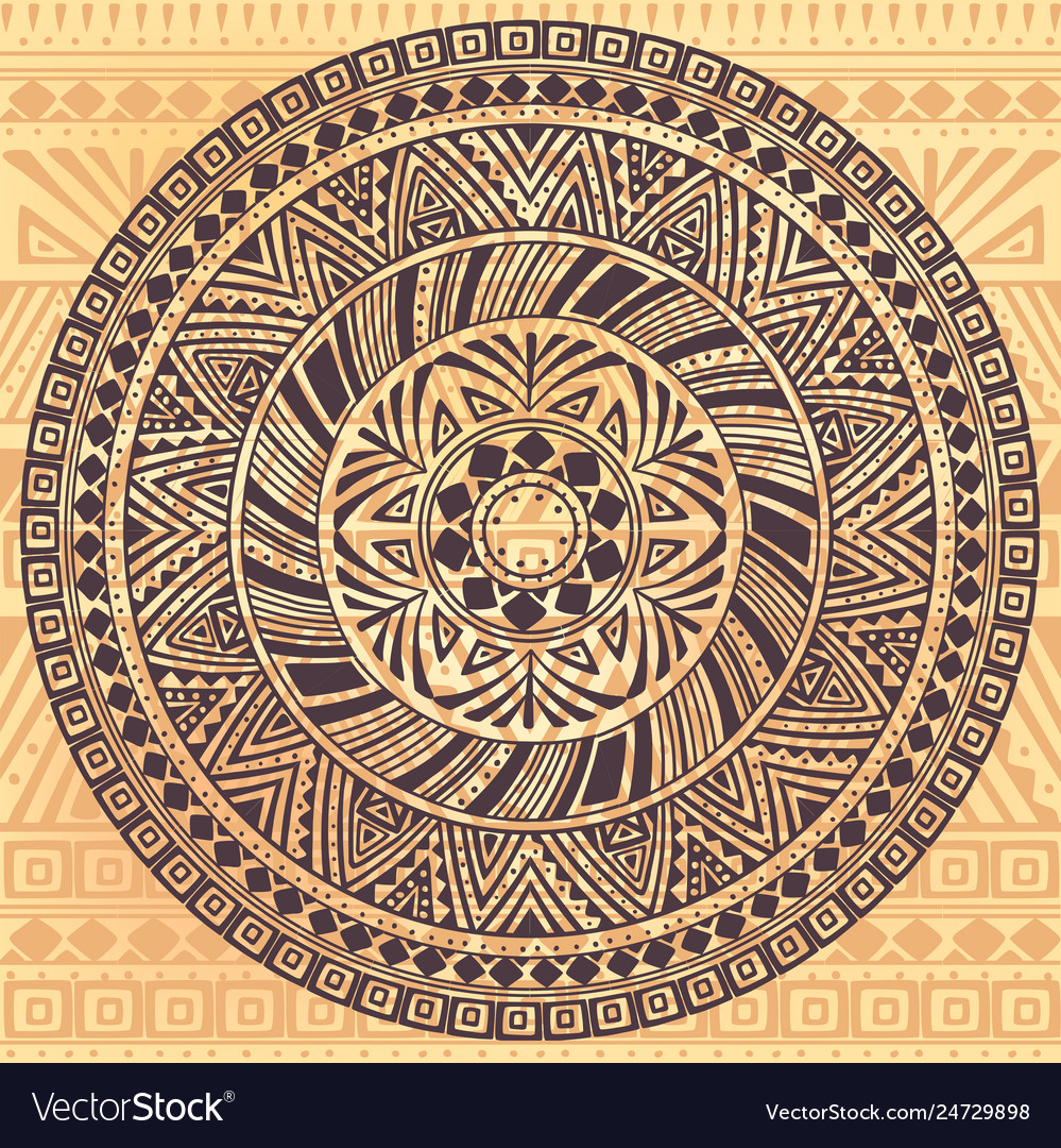 Round pattern with ethnic elements