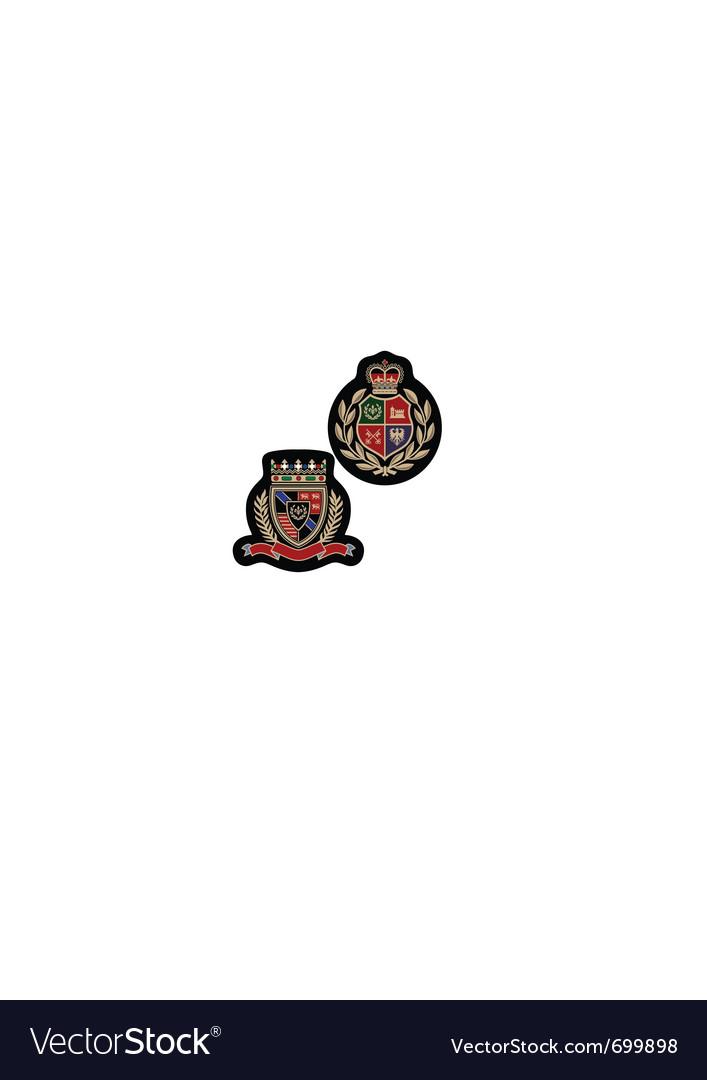 Royal emblem badge