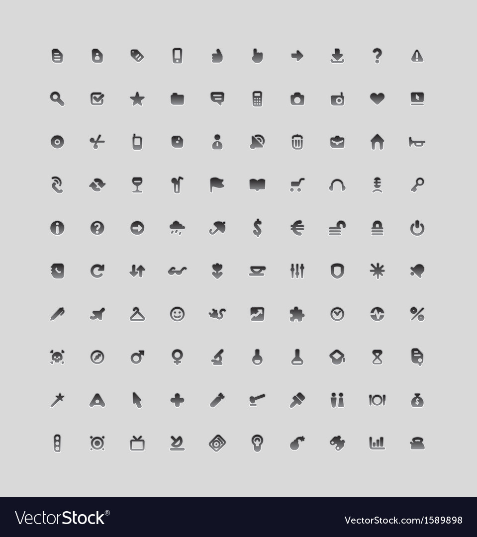 Set of 100 interface icons