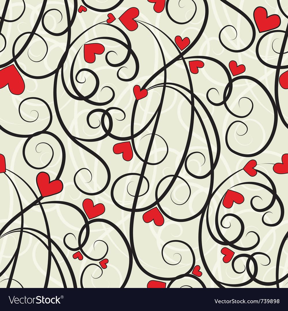 Wave floral heart