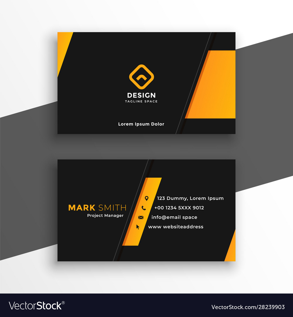 Black and yellow modern business card design