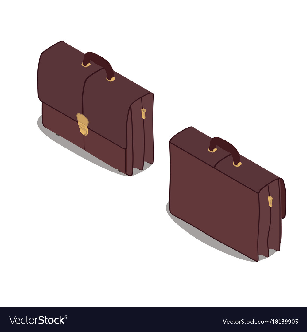 Briefcase isometric icon isolated case business vector image