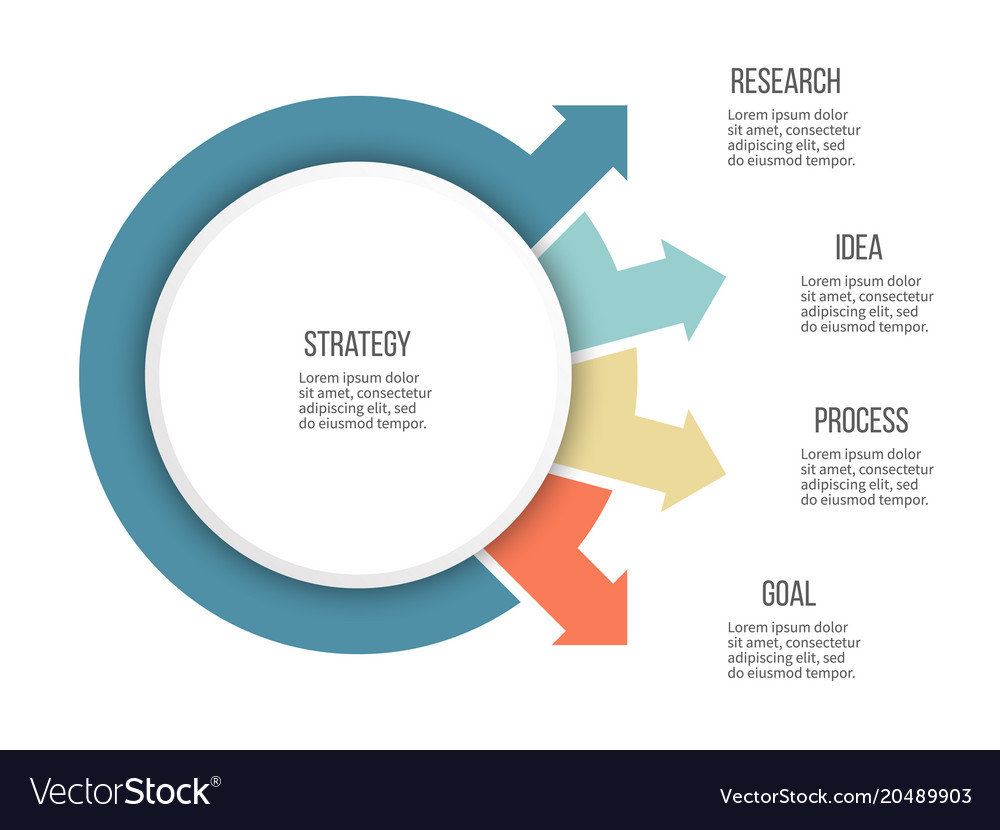 Business infographics organization chart with 4