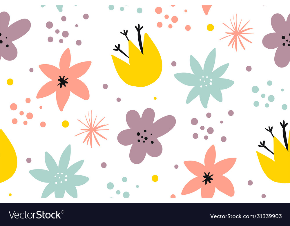 Cute pattern in small flower small colorful