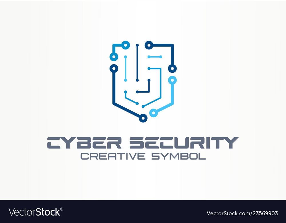 Cyber security creative symbol technology concept