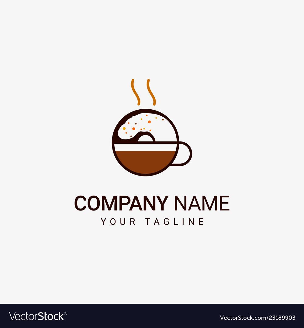 Donuts coffee logo
