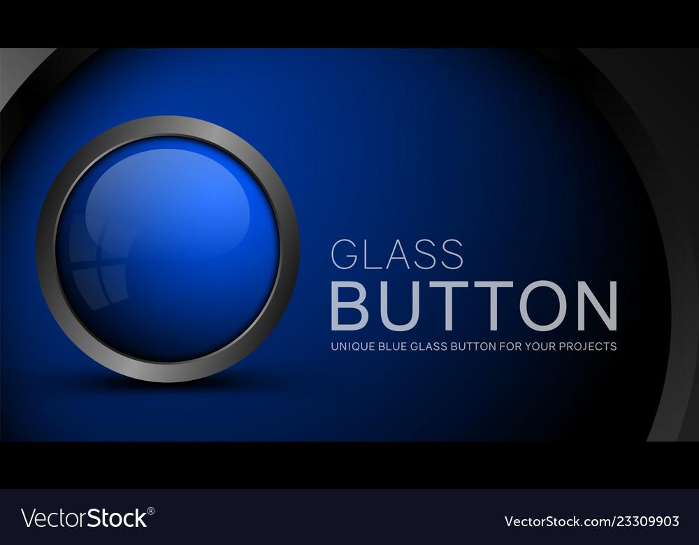 Glass blue button
