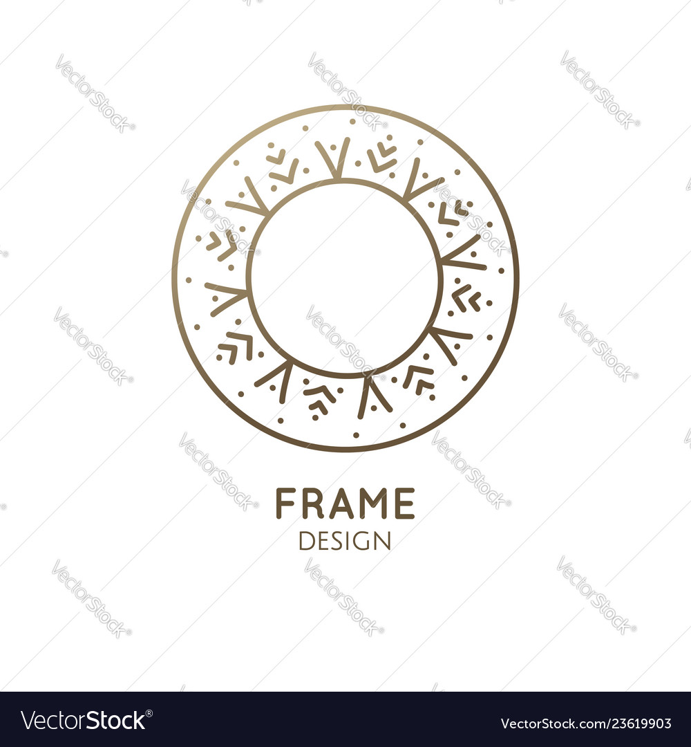 Minimalistic abstract frame snowflake logo
