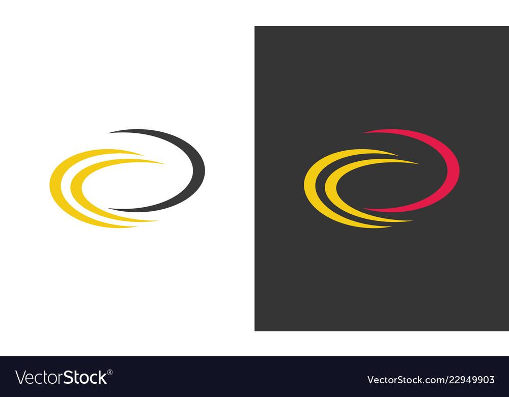 Round swirl abstract logo