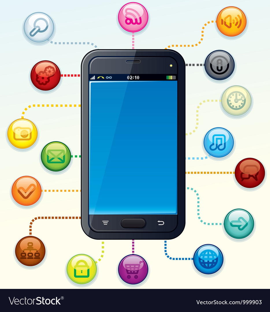 Smartphone with Apps Cloud