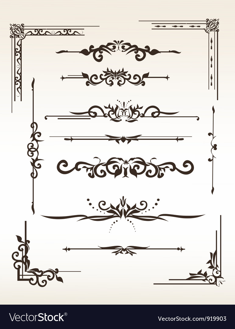 Vintage elements set vector image