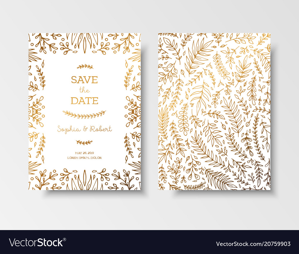 Wedding vintage invitationsave date card