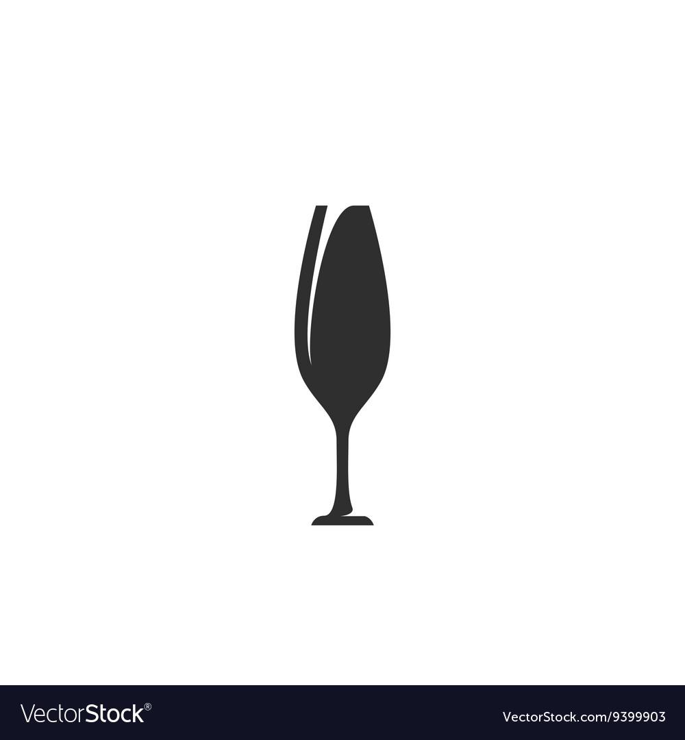 Wineglass icon isolated on white background