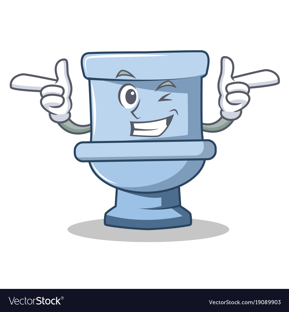 wink toilet character cartoon style royalty free vector wing clip art outline wing clipart images