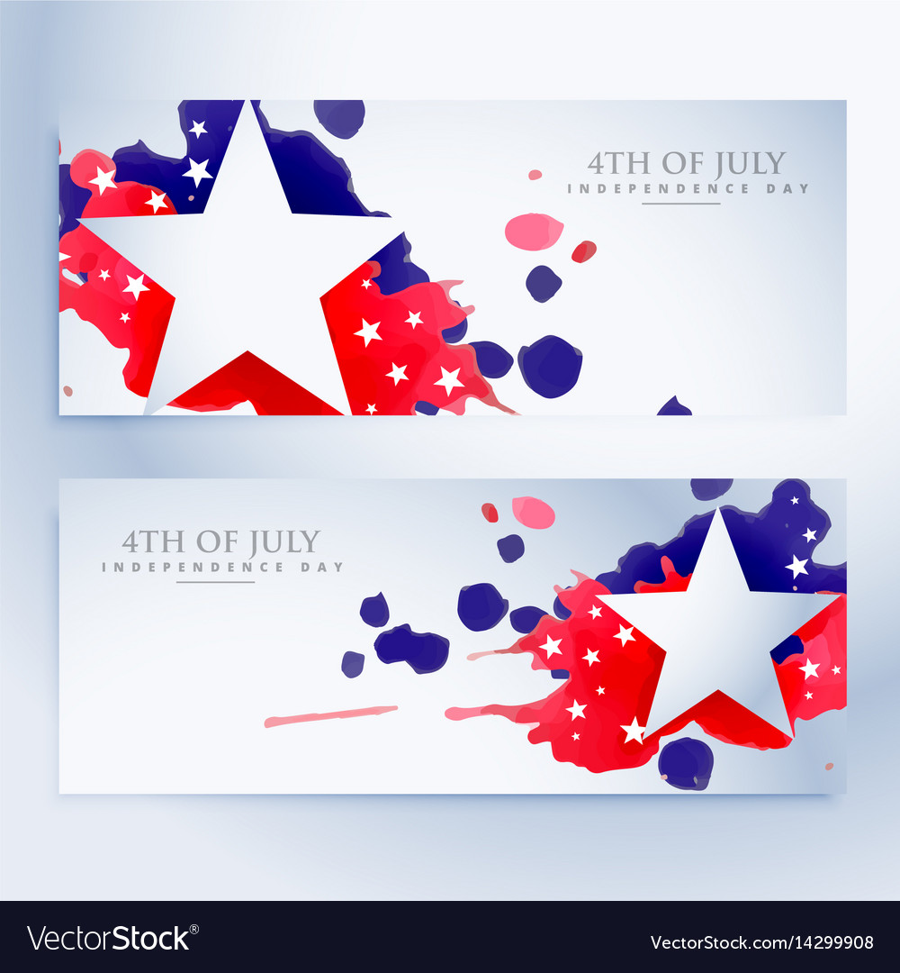 Abstract 4th july banners