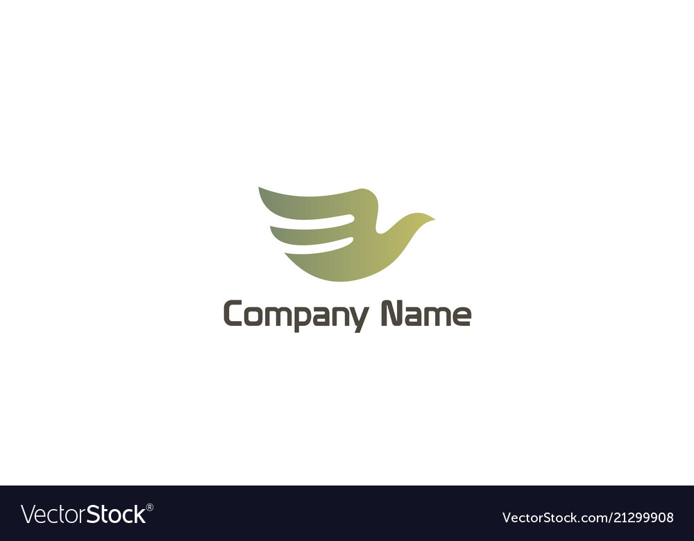 Abstract dove fly beauty company logo