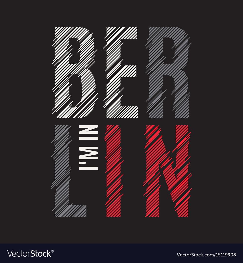 Berlin tee print t-shirt design graphics stamp