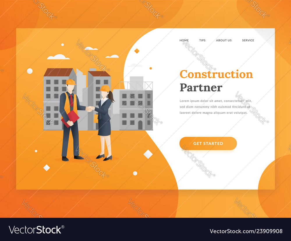 Construction company landing page template