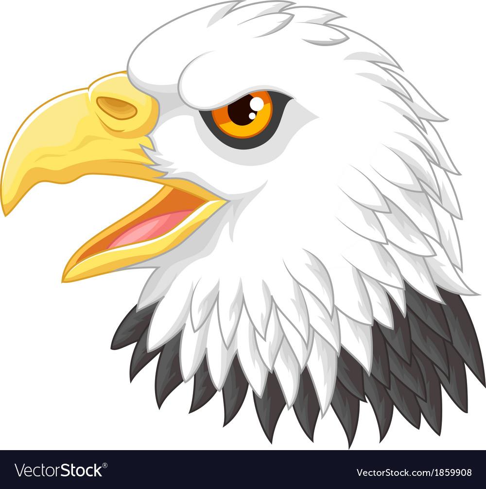 Eagle head mascot cartoon