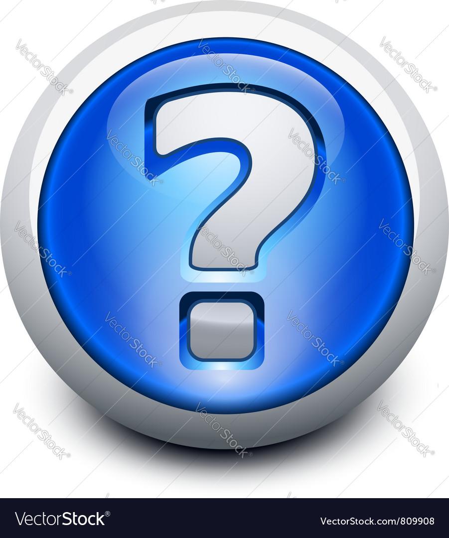 Glassy question button