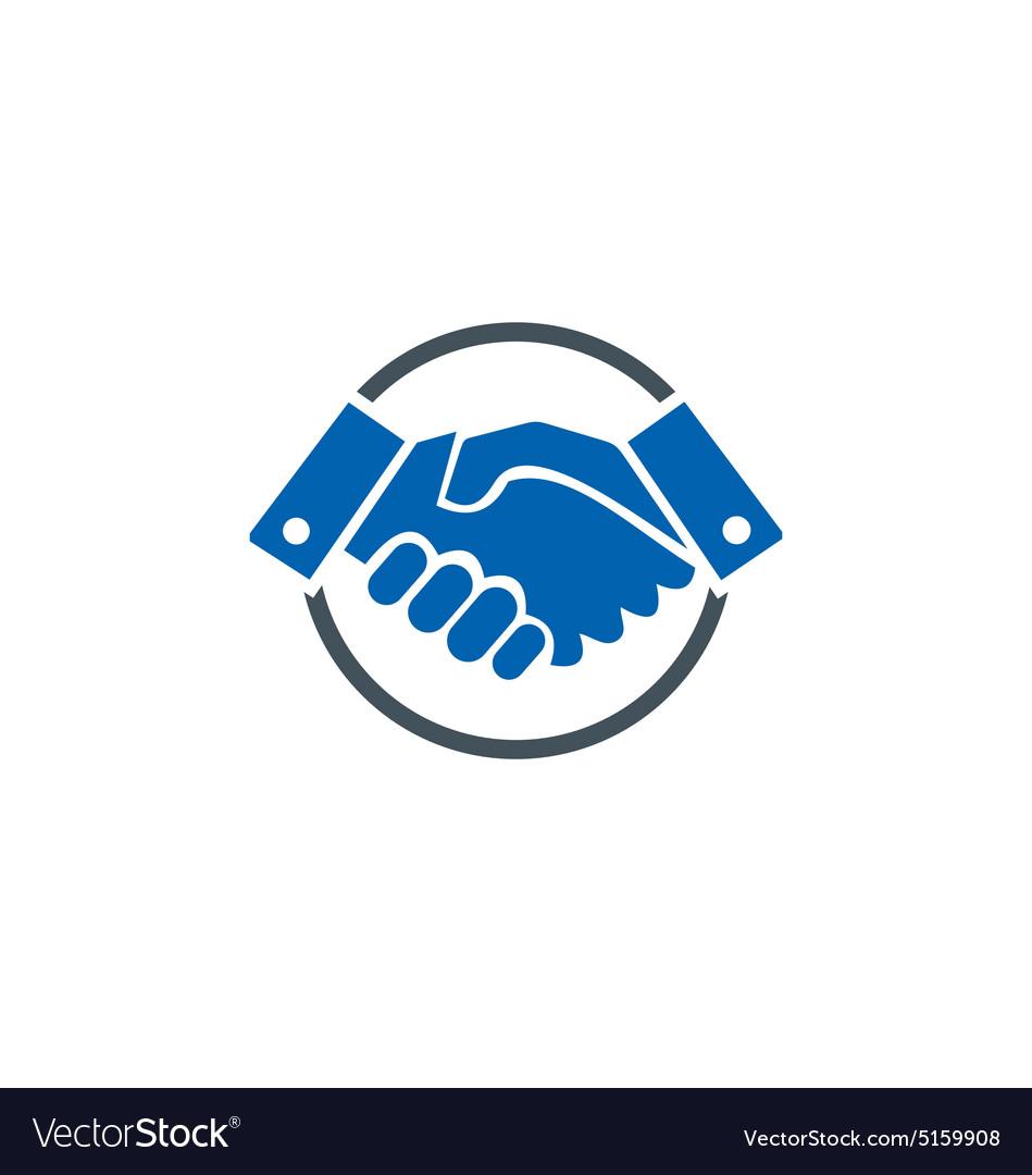 Hand shake deal business finance logo vector image