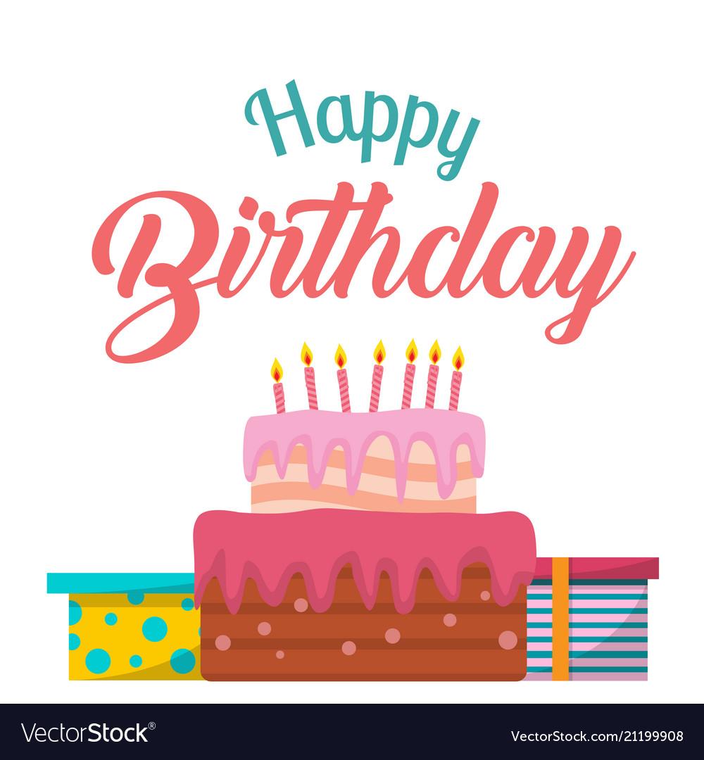 Pleasant Happy Birthday Cake T Box Background Ima Vector Image Funny Birthday Cards Online Amentibdeldamsfinfo