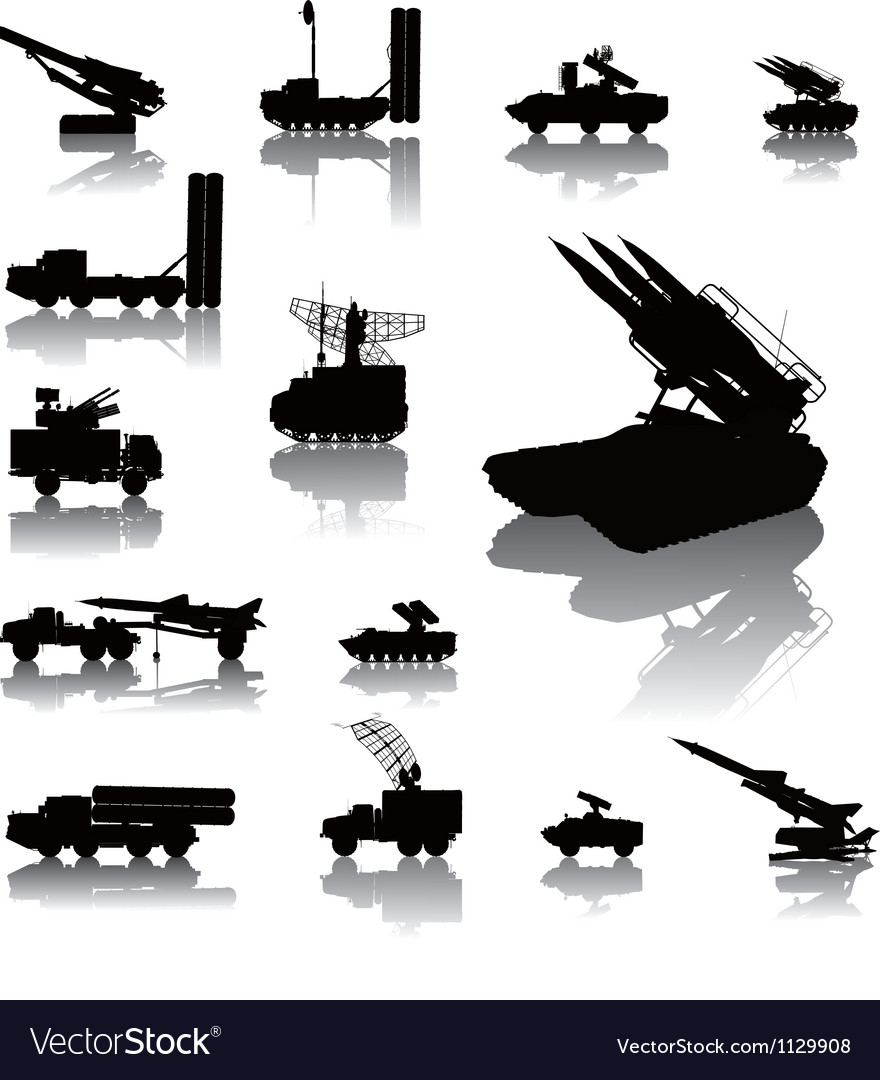 Military vector image