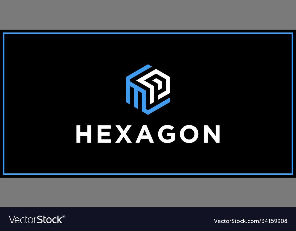 Mp hexagon logo design inspiration