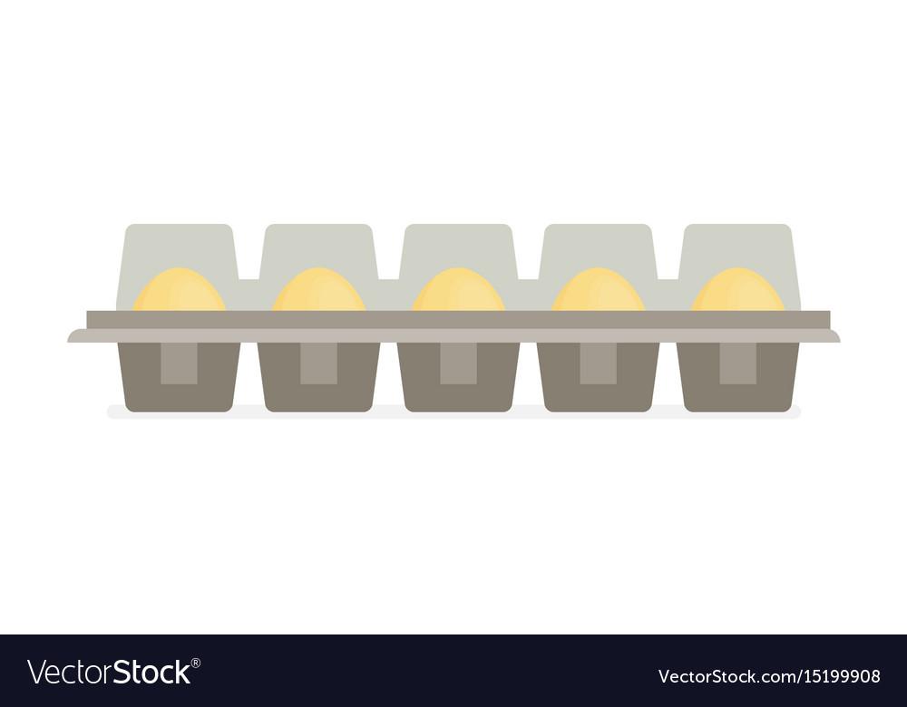 Package of eggs flat