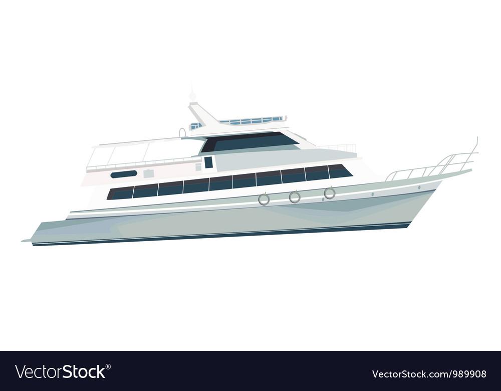 Sea vessel vector image