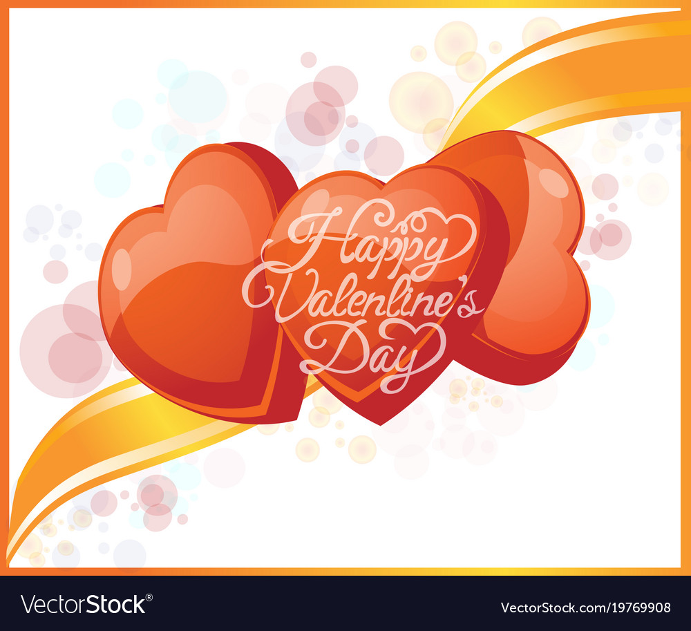 Valentine s day greeting card with bubbles and