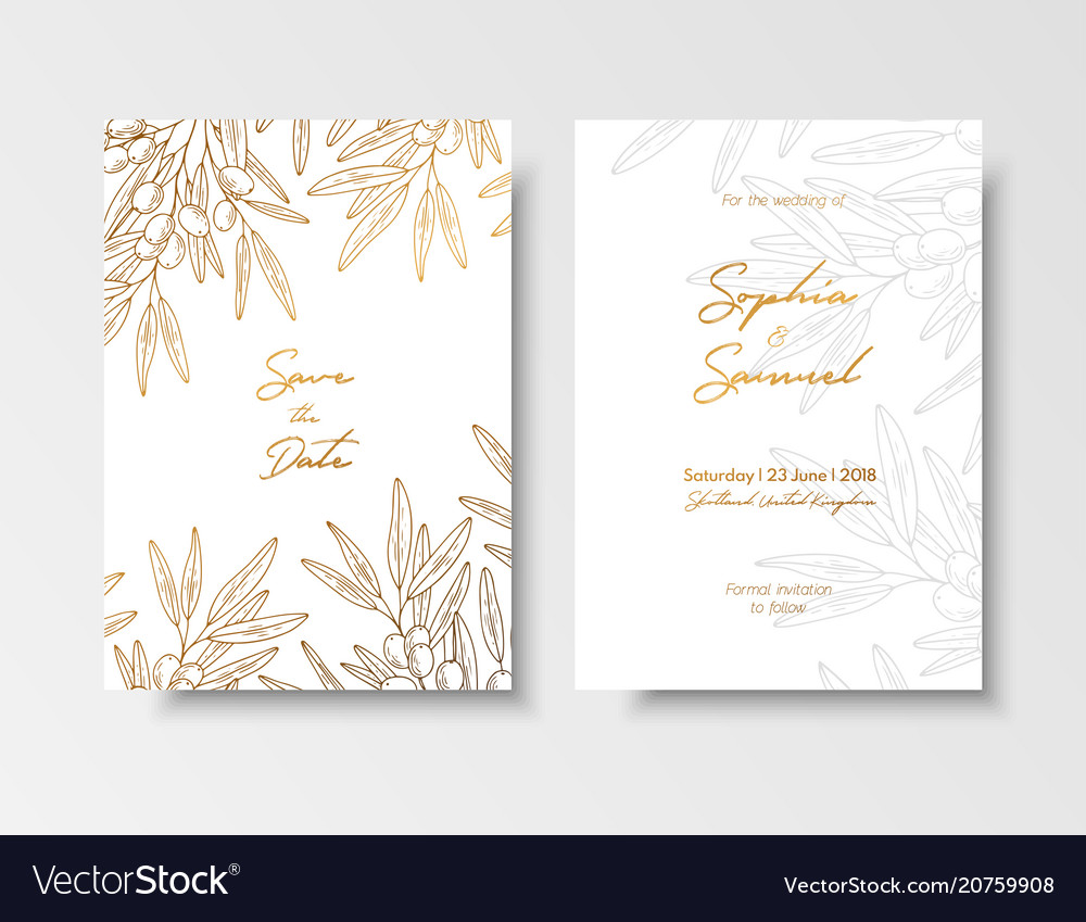 Wedding vintage invitation save date card
