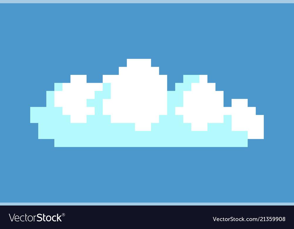 White cloud in blue sky pixel