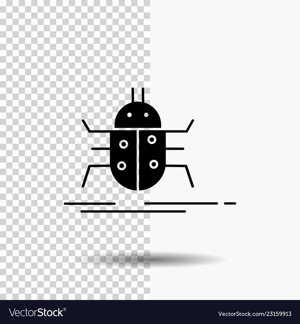 Bug bugs insect testing virus glyph icon on