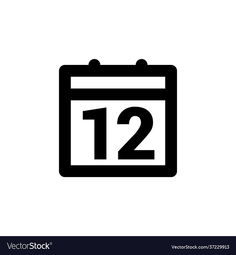 Calendar date simple web or mobile interface