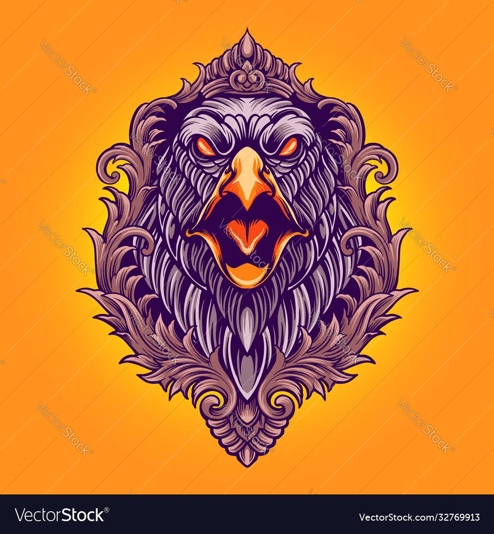 Eagle angry ornaments
