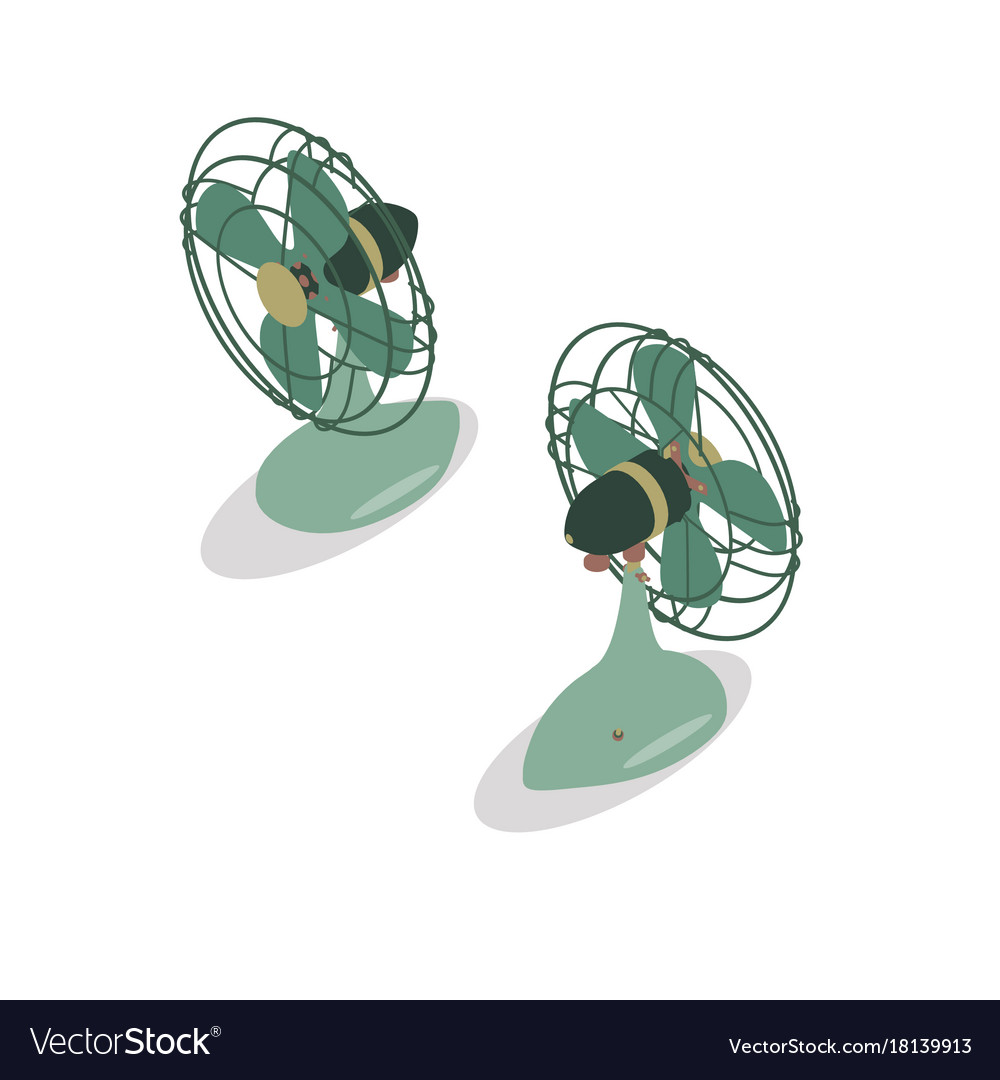 Fan isometric icon design isolated symbol sign vector image