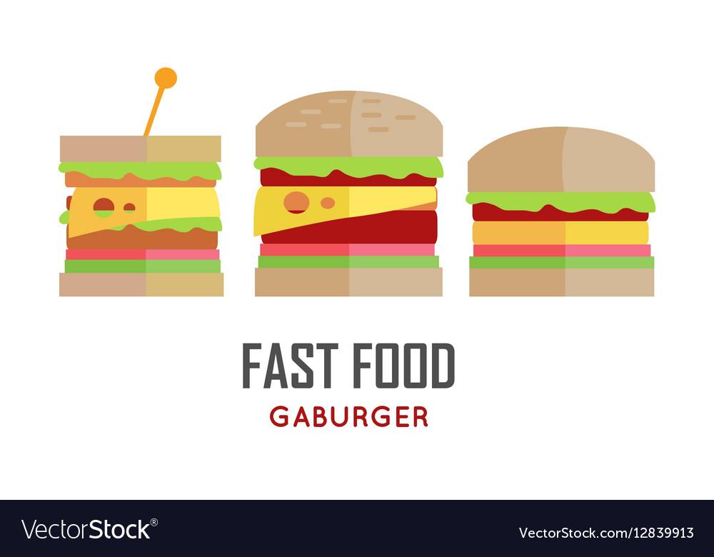 Fast Food Hamburger Concept in Flat Design