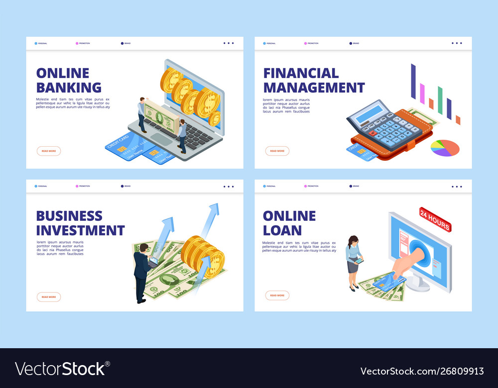 Financial landing page business and finance