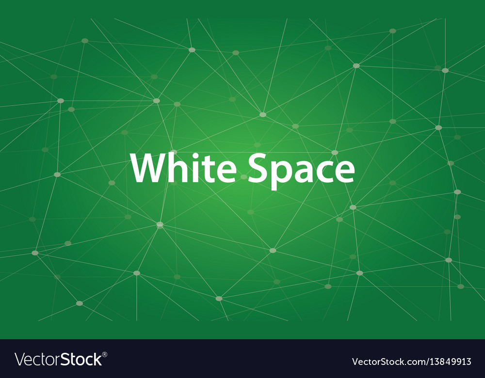 Text white space in design and