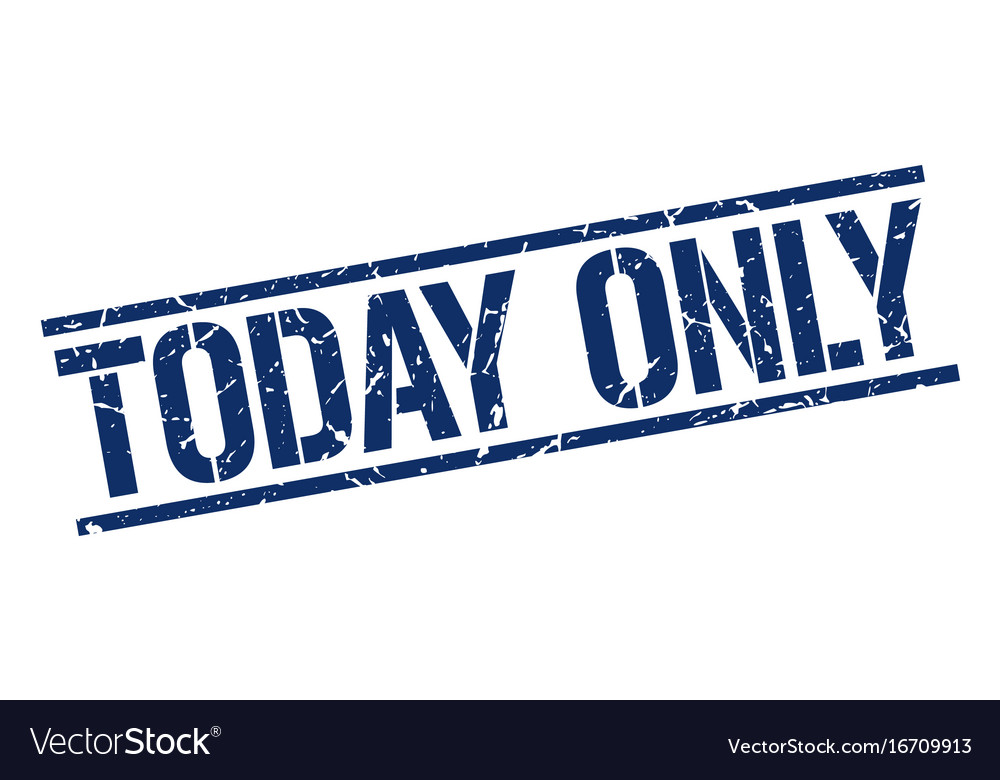 Today only stamp