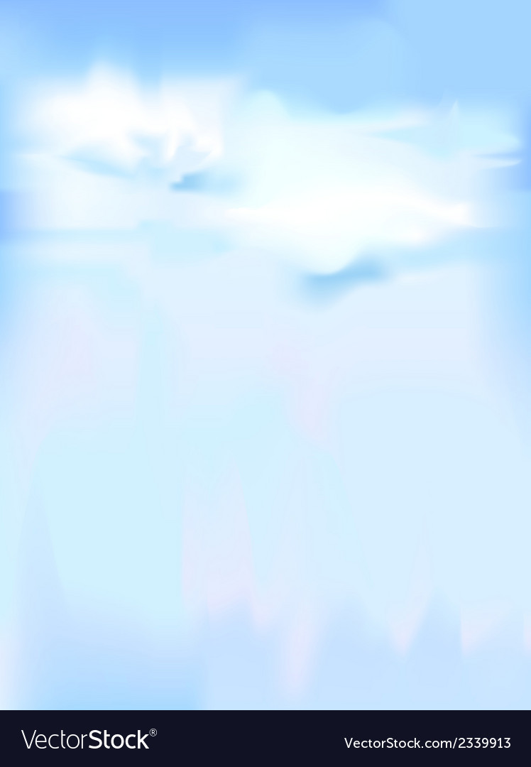 Vertical sky - blue abstract background