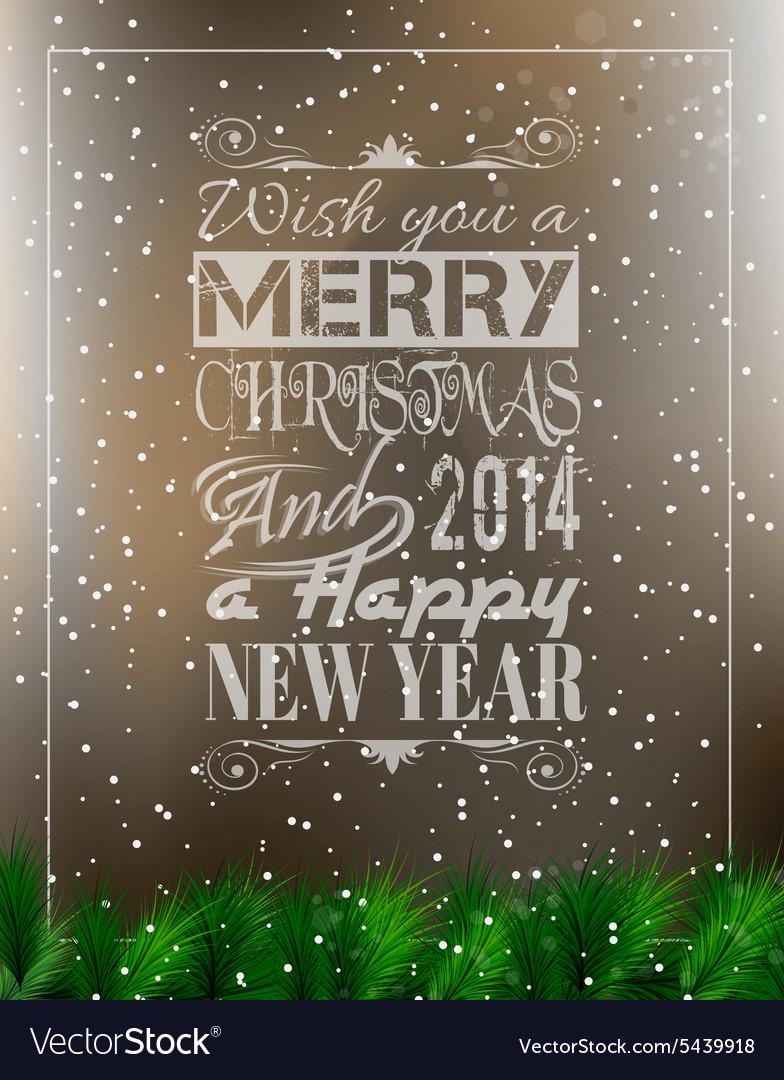 2014 Merry Christmas Vintage typo background