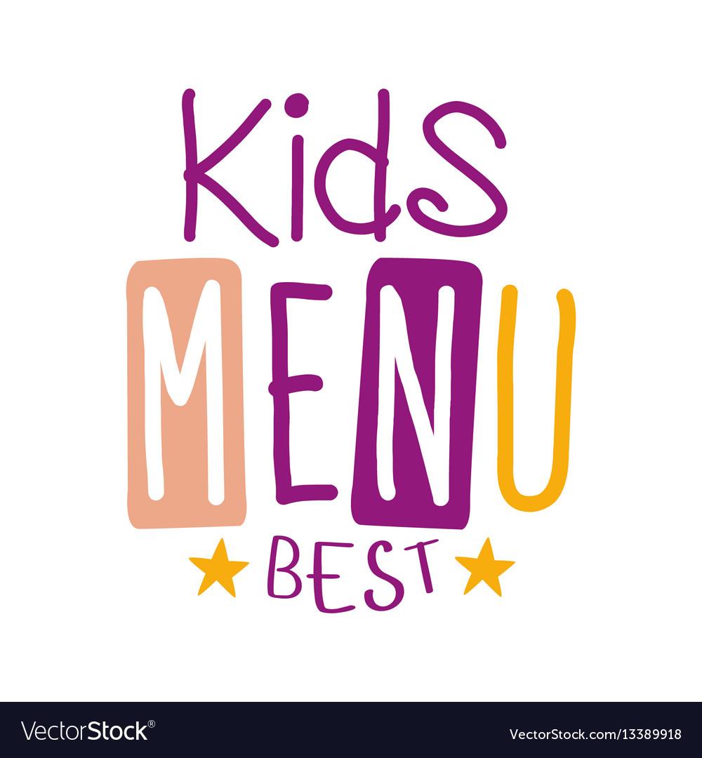 Best kids food cafe special menu for children