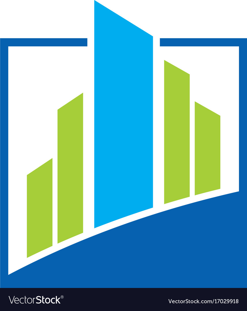 Building abstract business finance logo